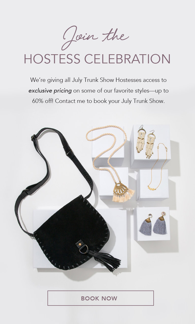 Host a Trunk Show and get items at 60% off