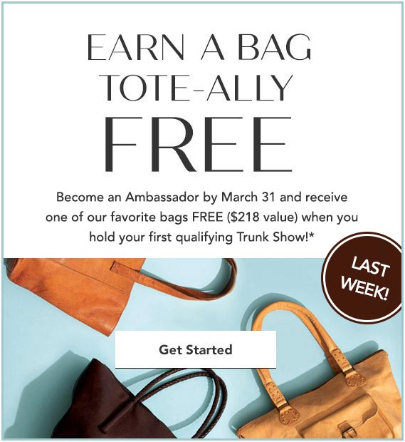 Join Now and get a FREE BAG