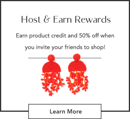 Host a trunk show in May and get these earrings 50% off plus product credit when you invite your friends to shop!